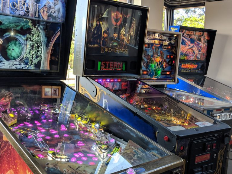 Pinball in the Tasting Room